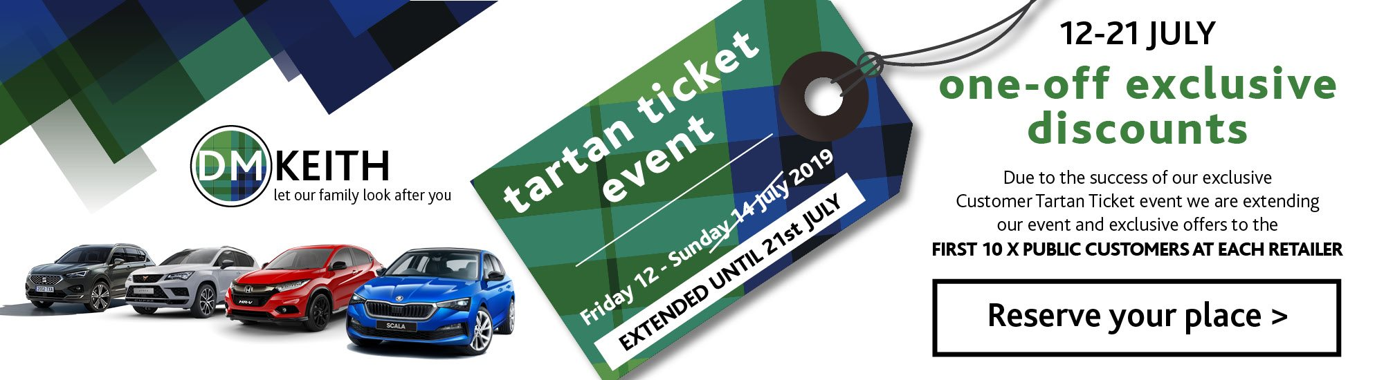 Tartan Ticket Event - new car special offers  - used car special offers